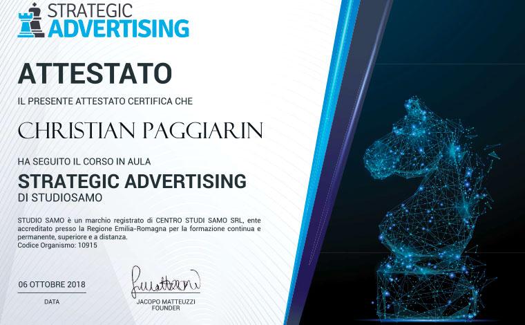 Christian Paggiarin strategic advertising