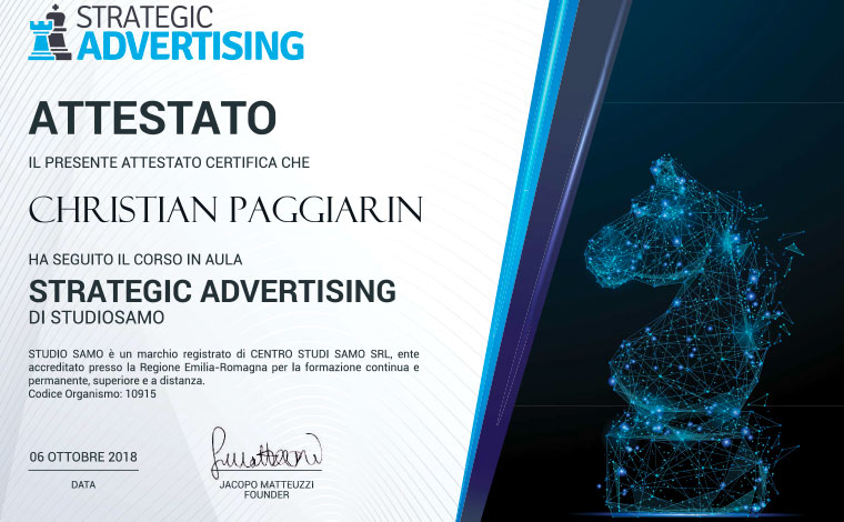 Christian Paggiarin strategic advertising