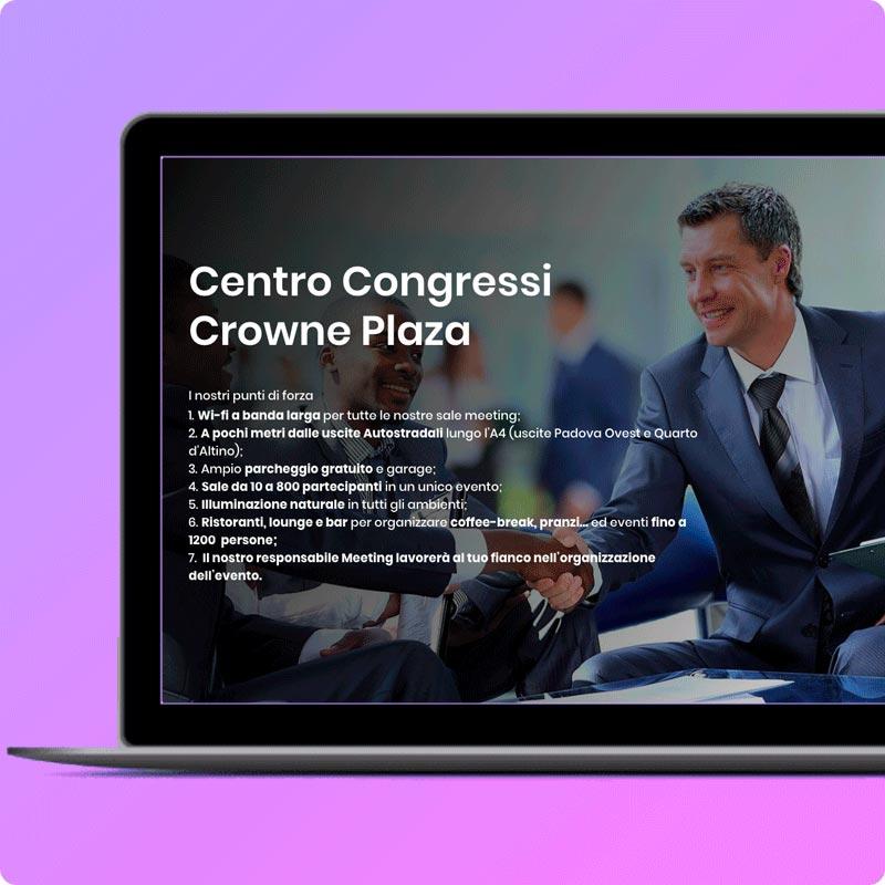 Creazione landing page per vendita sale meeting