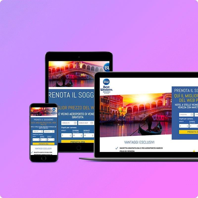 Creazione landing page per hotel