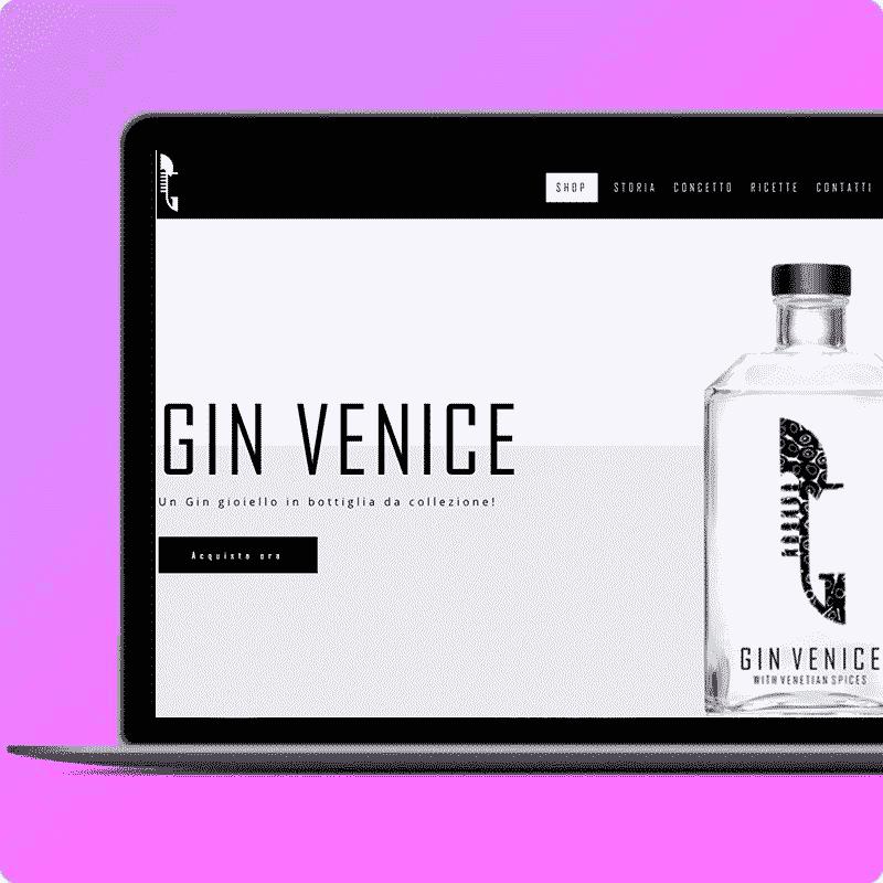 Orto Creativo - agenzia web marketing - Sviluppo siti web per aziende - Sito web Gin Venice